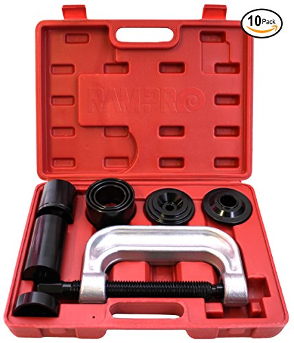 (RAM-PRO Ball Joint Press Service Repair Kit, Removal Tool Set, 2/4 Wheel Drive Vehicle Remover Installer Adapters – Also Used to Remove/Install Brake Anchor Pins and U-Joints (10 Pcs))