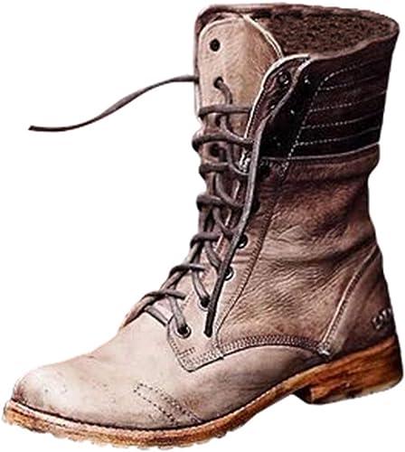 Women Boots - Ladies Vintage Block Heel