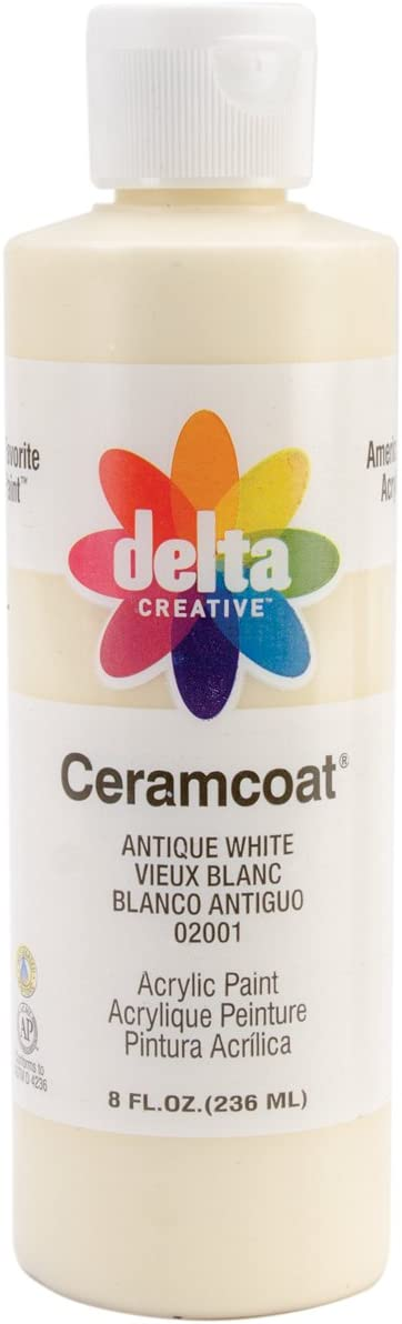 Delta Creative Ceramcoat Acrylic Paint in Assorted Colors (8 oz), 20018, Antique White
