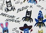 Sketchy Batman 100% Microfiber (FLAT SHEET ONLY) Size TWIN Girls Kids Bedding