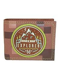 BioWorld Kid's Minecraft Explorer Bifold Wallet, Tan