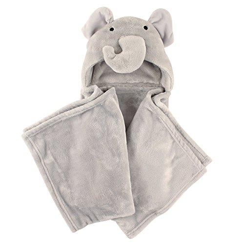 Hudson Baby Plush Hooded Blanket, Elephant
