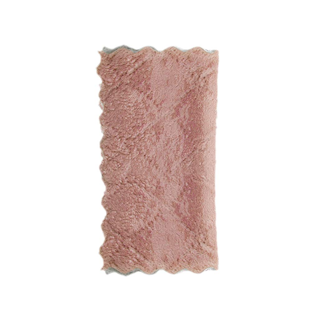 Pet1997 5 Pack Classic Kitchen Towel Dish Towels - Dishcloth Microfiber Kitchen Towel For Window Rags Glasses Washing Dish Towels Cotton Tea Towels - Set of Five, Rag (5 Pack Pink)
