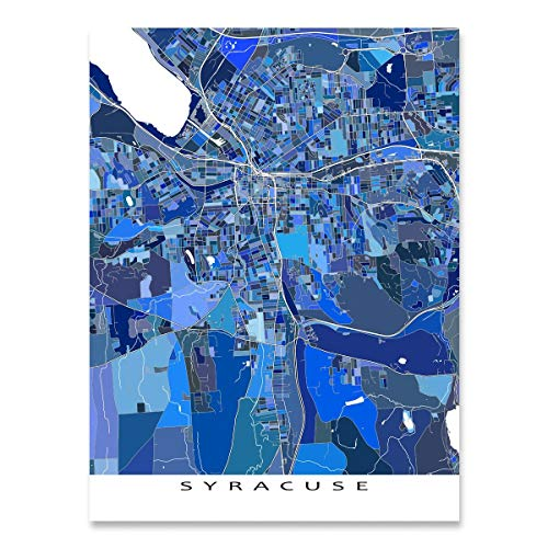 Syracuse Map Print, New York, USA City Street Art