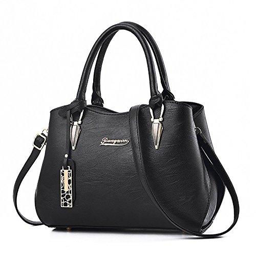 Bags Satchels Handbags Bags Womens Shoulder Purses Black and Bag Crossbody Handle Tote Top XwTxqg6