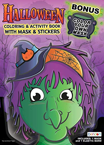 Bendon 43177 Halloween Witch Coloring & Activity Book with Mask, Multicolor