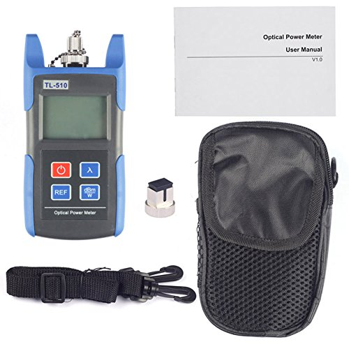 (J-Deal® TL510C Portable Optical Fiber Power Meter Tester Measure -50 ~ +26 dBm Connector SC FC for CCTV Test)