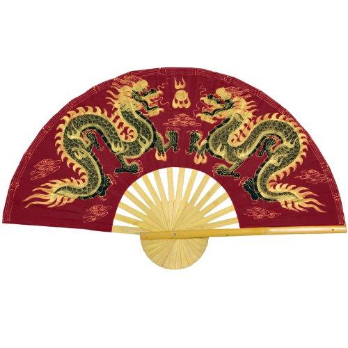 Oriental Furniture Fiery Dragons Wall Fan - 60