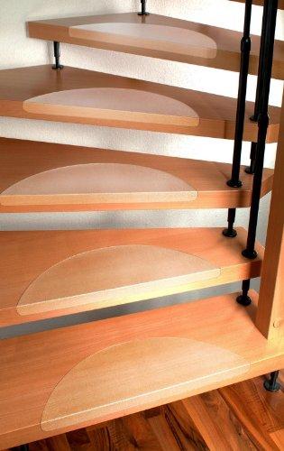 Stufenmatten Set für Treppenstufen - 15 Stück, klar - Größe nach ...
