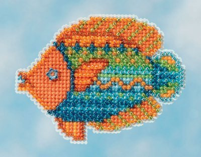 Fancy Fish Beaded Counted Cross Stitch Ornament Kit Mill Hil