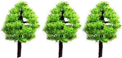 Xiton Mini paisajes Paisaje Arquitectura árboles Modelo árboles Miniatura Hada jardín árbol Planta Bricolaje Artesanía jardín Ornamento árbol de simulación 3Pcs: Amazon.es: Hogar