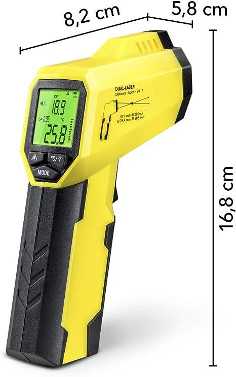 Trotec Bp25 Pyrometer Taupunktscanner Infrarot Thermometer Temperaturmessgerät 50 C Bis 260 C Berührungslos Thermometer Digital Lcd Hintergrundbeleuchtbares Display Baumarkt