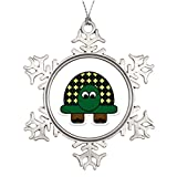 Xixitly Personalised Christmas Tree Decoration Turtle Cartoon Art Turtle Photo Frame Snowflake Ornaments