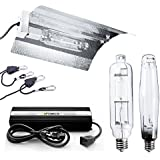 iPower 1000 Watt HPS MH Digital Dimmable Grow Light System Kits Wing Reflector Set