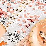 MOWO Rose Gold Metallic Confetti Circle Dots for