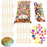 Guaishou Sensory Water Beads Pack ( Small water beads /150 Large Jumbo water beads/30 Balloons /30 Expansion Ocean Animal) Water Gel Beads For Kids Toys and Decoration