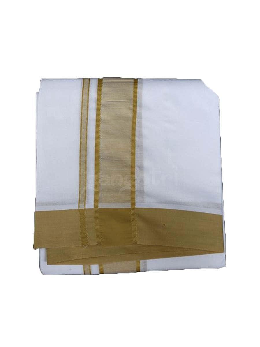 Dhoti Chadar Set Cotton GG80G-Brown