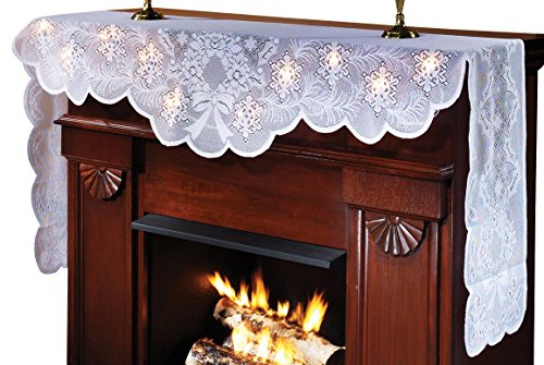 Lighted Mantel Scarf (Christmas Mantel Scarf)
