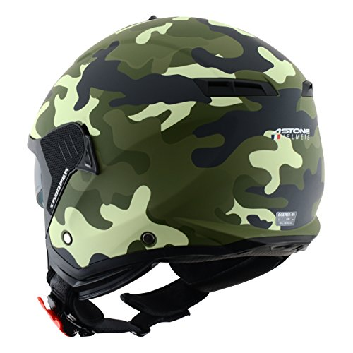 Amazon.es: Astone Helmets Casco Jet Mini, diseño de soldado, color Verde, talla S