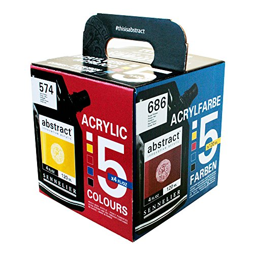 Abstract Acrylics 5 Pack 120Ml product image