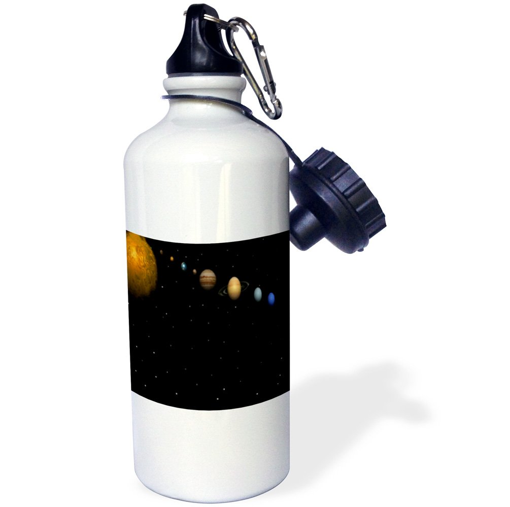 3dpink wb_40282_1 Alignment of Our Solar System  Sports Water Bottle, 21 oz, White