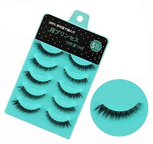 Price comparison product image Scala 5 pairs /set 3D False Eyelashes Messy Cross Thick Natural Fake Eye Lashes Professional Makeup Tips Short False Eye Lashes (L-12)