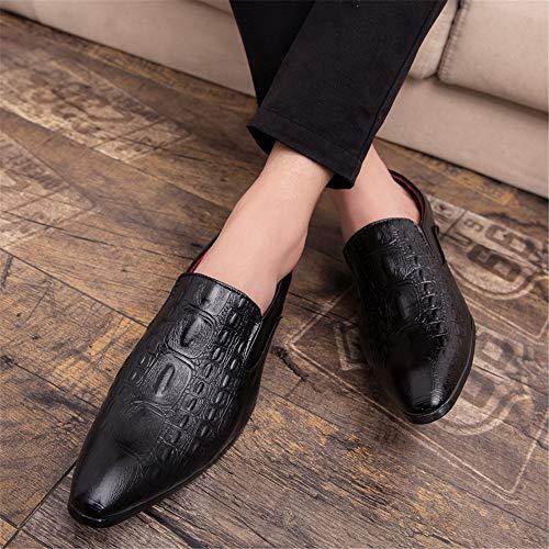 chaussures De Blanc Baskets 43 En Plats Shuo Crocodile color Bout Décontracté Rond Talons Pour Taille Noir À Cricket Hommes Eu Lan Oa5n5Wqw7