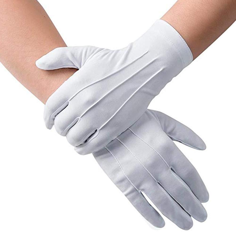 Loveinwinter wei/ße Handschuhe Wei/ß Kost/üm-Parade f/ür die offizielle Ehrenwache Smoking Polizei und besondere Anl/ässe