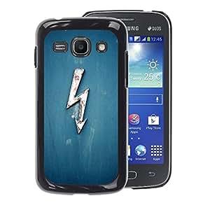 A-type Arte & diseño plástico duro Fundas Cover Cubre Hard Case Cover para Samsung Galaxy Ace 3 (Electricity Blue Lightning Ac Dc Voltage High)