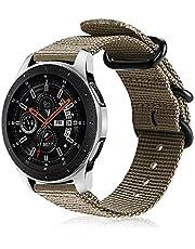 FINTIE Rem kompatibel med Samsung Galaxy 46 mm/Gear S3 Frontier/S3 Classic/Huawei Watch GT/GT 2 Smartwatch – mjukt vävd nylon justerbar ersättning sportband med metallspänne