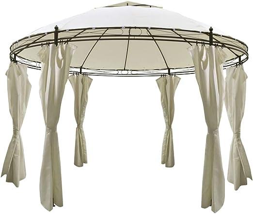 Tidyard Cenador Plegable Pabellon de Jardin Gazebo Redondo con Cortinas; 3,5 x 2,7 m: Amazon.es: Hogar