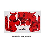 Skins for PS4 Controller - Decals for Playstation 4 Games - Stickers Cover for PS4 Slim Sony Play Station Four Controllers PS4 Pro Accessories PS4 Remote Wireless Dualshock 4 Skin - Digicamo Red