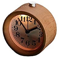 IREVOOR Round Wooden Silent Desk Alarm C...