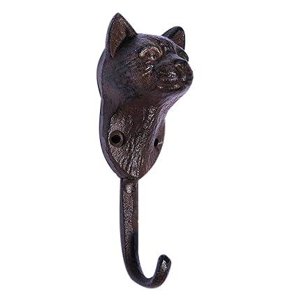 Set of 2 Cat Wooden Peg Hooks Coat Individual Decorative Wall Unique Animal
