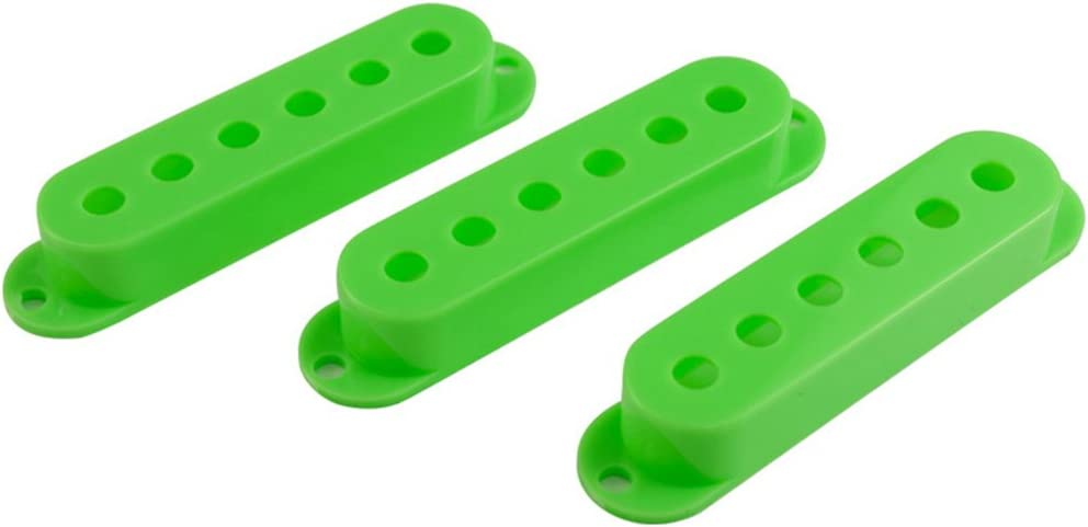 FENDER STRATOCASTER STRAT STYLE GUITAR PICKUP COVERS SET OF 3 GREEN VAINEW