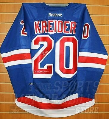 Chris Kreider New York Rangers Signed Autographed Inkreidible Home Jersey ef776da37