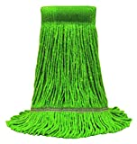 O'Cedar Commercial 97147 MaxiClean Loop-End Mop, Large, Green (Pack of 12)