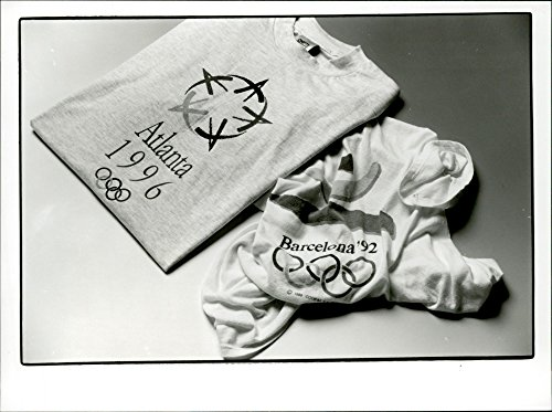 Olympic Games 1992 (Vintage photo of OS t-shirts from the Olympic Games in Barcelona in 1992 and the upcoming OS in Atlanta 1996)