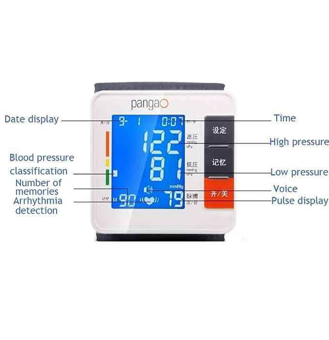 Tensiómetro de muñeca,Tensiómetro Digital De Muñeca Totalmente Automático Presión Arterial Y Detección De Pulso Arrítmico,Memoria 90 Mediciones: Amazon.es: ...