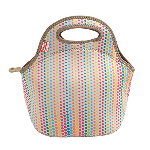 BUILT 5158490 Gourmet Getaway Mini Soft Neoprene Lunch Tote Bag-Lightweight, Insulated and Reusable Candy Dot