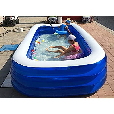 Mopoq Children's Pool Inflatable Pool Home Bath Thickening Bath Game Pool Water Gun Toy Swimming Ring 4 Layers (Size : XXXL): Toys & Games