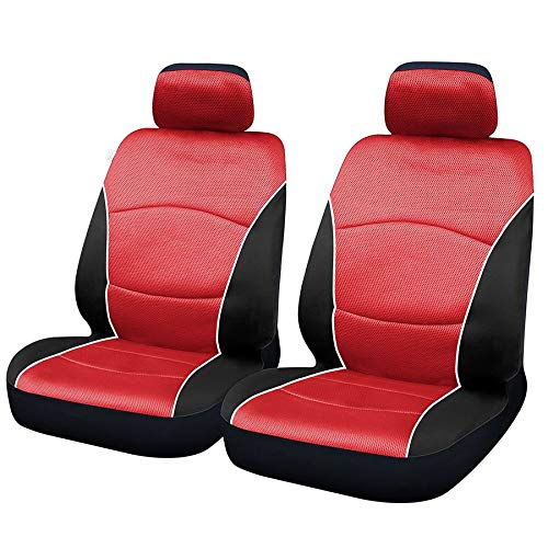 UKB4C Red & Black Steering Wheel & Front Seat Cover set for Saab 9-3 93 All Models: