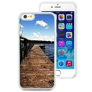 NEW Unique Custom Designed iPhone 6 4.7 Inch TPU Phone Case With Lake Wharf Dock_White Phone Case wangjiang maoyi