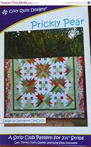 Strip Quilt Designs - Pattern Prickly Pear Designed for 2 One Half Strips Cozy Quilt Design
