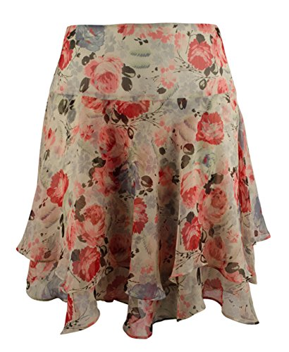 Lauren Ralph Lauren Women's Plus Size Floral Print Tiered Skirt-M-22W - Ralph Lauren Skirt Print