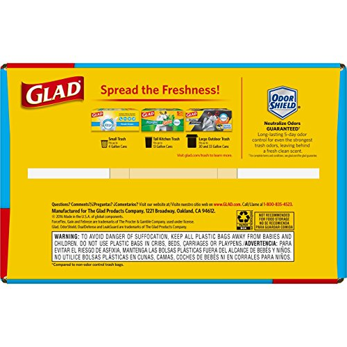 Large Product Image of Glad OdorShield Tall Kitchen Drawstring Trash Bags - Febreze Fresh Clean - 13 Gallon - 110 Count