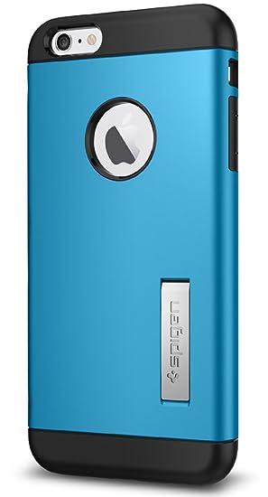 d3b72a4ccd9 Spigen Funda para iPhone 6s Plus, iPhone 6 Plus, Slim Armor, con Air  Cushion Estuche para Apple iPhone 6/6s Plus - Azul Eléctrico:  Amazon.com.mx: ...
