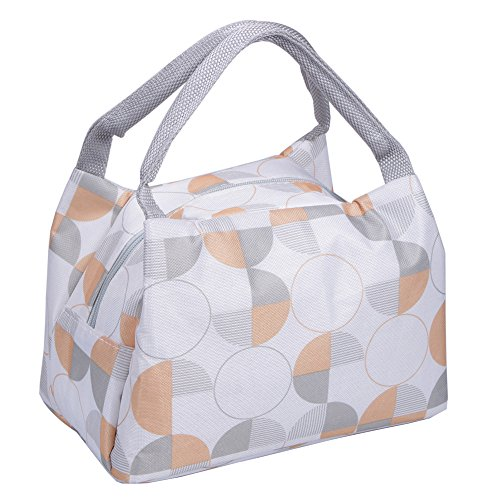 Insulated Lunch Bag Reusable Lunch box Lunch Container Modern Portable Cooler Tote Bag with Zip Closure for Adults&Kids