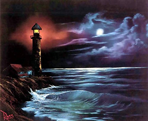 Fipart 5D DIY Diamond Painting Cross Stitch Craft Kit Wall Stickers for Living Room Decoration. lighthouse12X16inch/30X40CM)