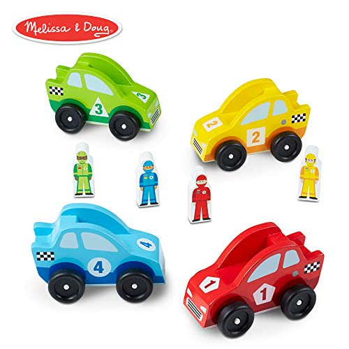 Doug Car Wooden Race - Melissa & Doug Wooden Race Car Vehicle Set